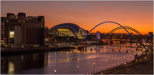 002 Sunset over theTyne