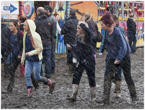 Hoppings rain