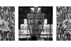 Knife Angel At The Sage triptych