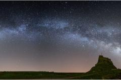 Milky Way over Lindisfarne Castle
